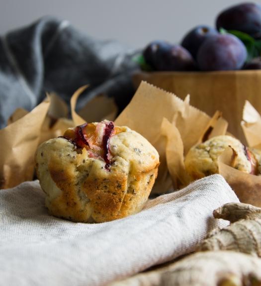 Zwetschgen Ingwer Muffins