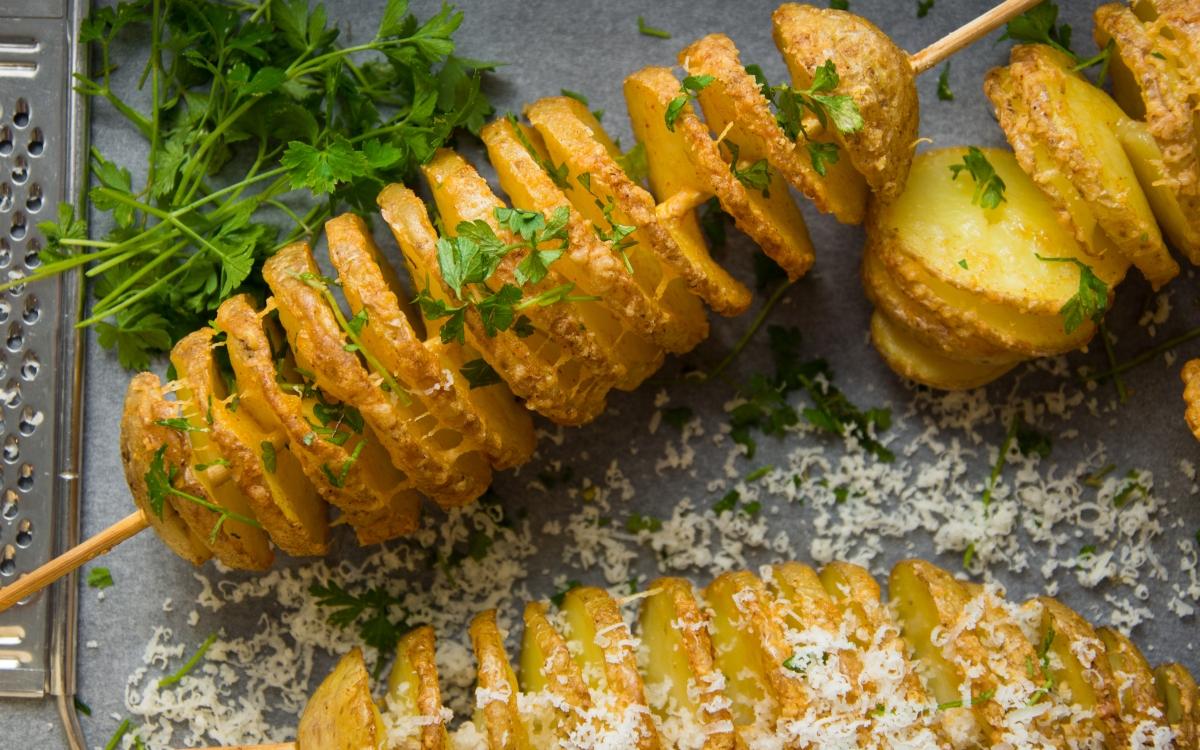 Tornado Kartoffeln mit Parmesan und Petersilie