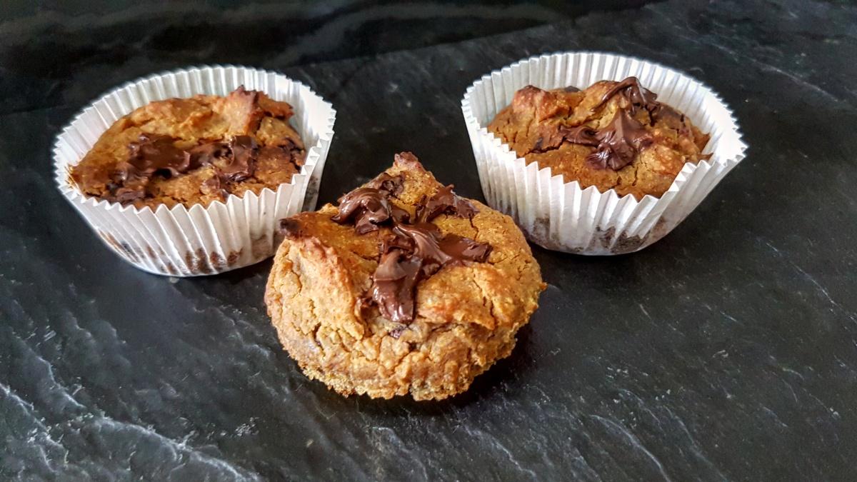 Bananen Bohnen Schokoladen Muffin