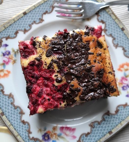 Fudgy Raspberry Cheesecake Brownie