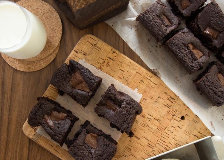 Fudgy Schokoladen Brownies